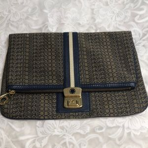 Marc by Marc Jacobs large envelope clutch blue/bei
